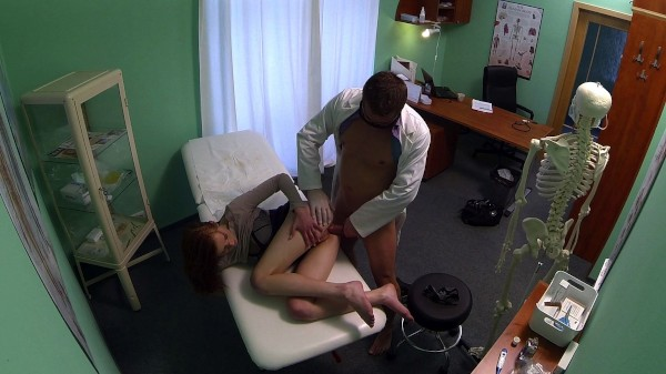 Innocent red head gets a creampie prescription ft - FakeHub.com