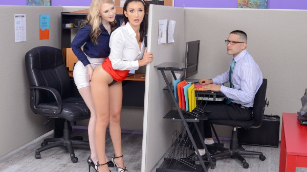 Office Ass Party Featuring Jade Amber, Lily Rader - Keezmovies Premium