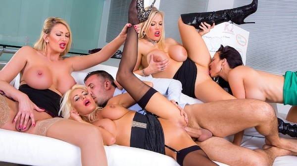 Office 4-Play VIII: UK Edition - Brazzers Porn Scene
