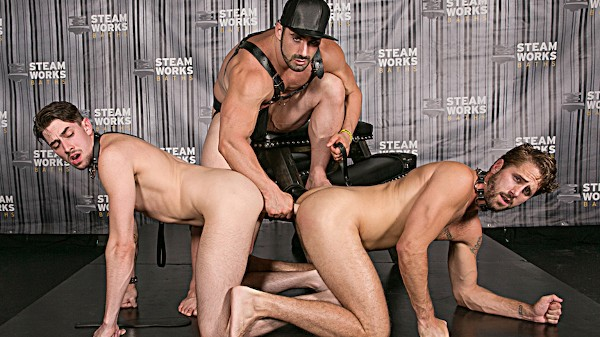 Watch Jaxton Wheeler, Jack Hunter, Wesley Woods in The Steam Room Part #2, Scene 1