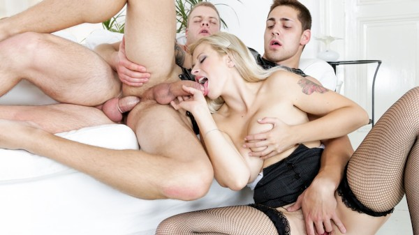 Bi Sexual Cuckold #07 Scene 1 Bisexual Orgy on Bi Empire with Barbara Nova