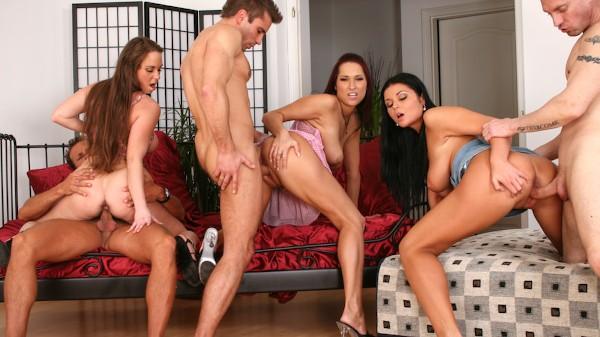 Orgy Initiations #04 Scene 1 Porn DVD on Mile High Media with George Uhl, Dillon Day, Christina Jolie, Lea Magic, Luscious Eden