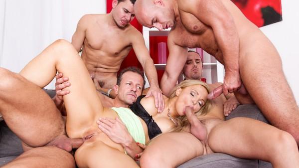 4 On 1 Gang Bangs #02 Scene 2 Porn DVD on Mile High Media with George Uhl, Jenna Lovely, Ricky Silverado, Neeo, Thomas