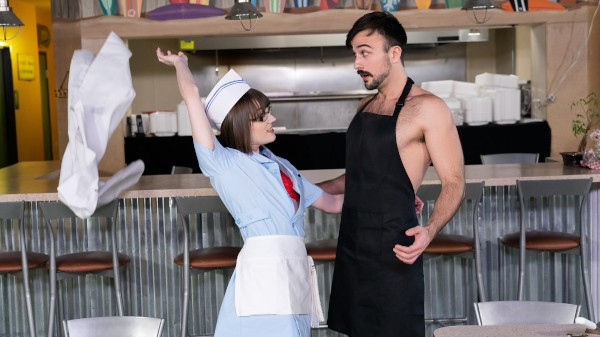 Watch Big Tip For The Waitress featuring Mason Lear, Claire Tenebrarum Transgender Porn