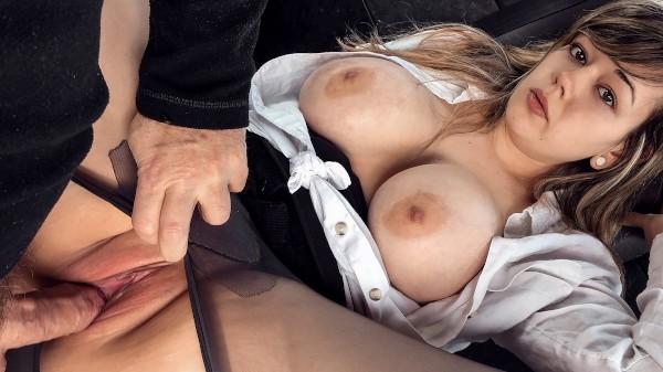 Watch Madison Stuart in Busty passenger gives good tit wank