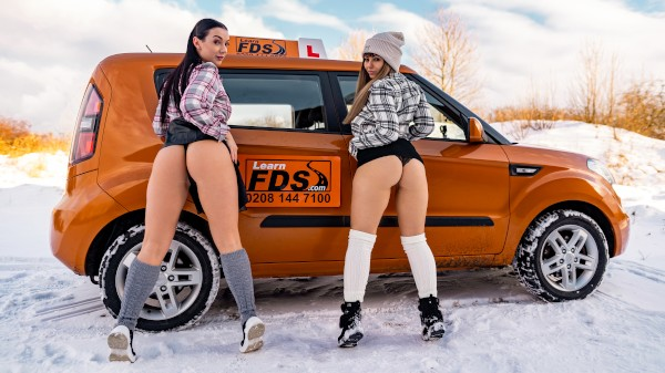 Stuck Between Snow and Big Tits ft Dominno - FakeHub.com