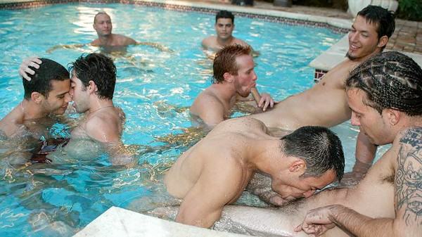 Pool Party - Joe, Miguel, Robert, Ricky, Steven Ponce, Javier
