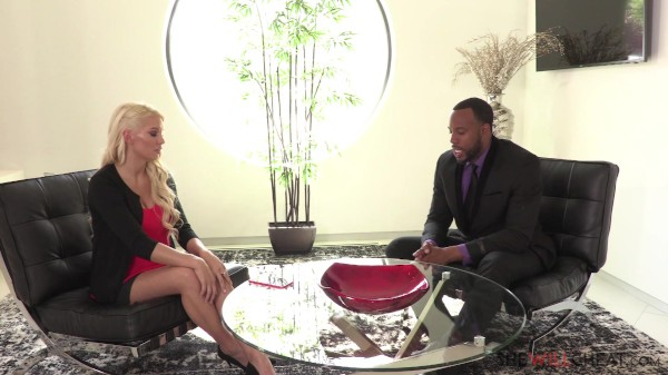Hot blonde Kenzie Taylor cheats on her husband with a handsome black man