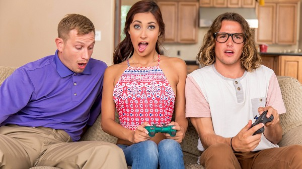 She Loves Playing With Joysticks - Brazzers Porn Scene