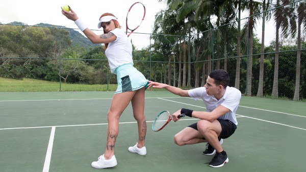 Watch Hungry for Tennis featuring Pyetro Baggio, Marcelle Herrera Transgender Porn
