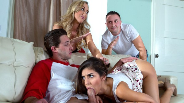 Sex Ed Abroad - Brandi Love, Nina North , Keiran Lee, Lucas Frost