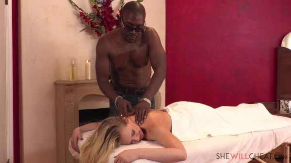 Hot blonde Kagney Linn Karter cheats on her cuckold husband with her neighbor's BBC