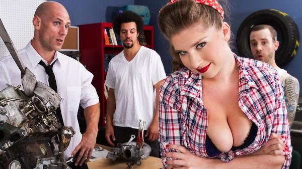 Learning the Two-Stroke in Auto Shop - Brazzers Porn Scene