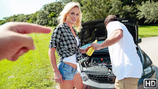 Oil Change with Kyle Mason, Sydney Hail at milfhunter.com