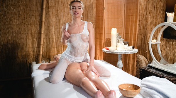 Young blonde lesbians hot wet sex at SexyHub.com