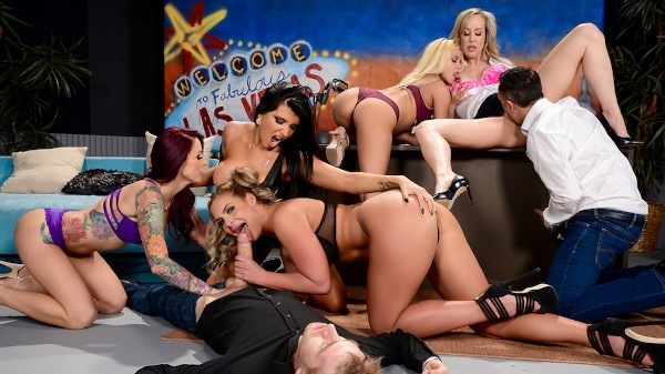 The Late Night Orgy - Brazzers Porn Scene