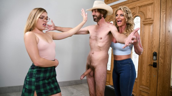 Cum And Fuck on Our Door - Brazzers Porn Scene