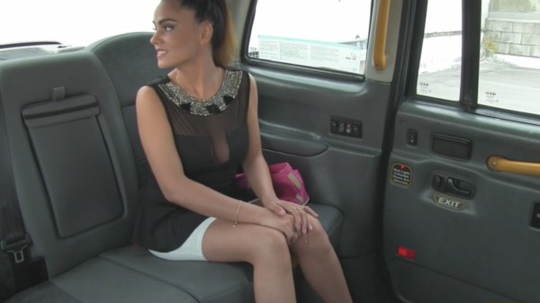 Watch John Petty in Stunning Romanian with perfect tits gets taxi facial