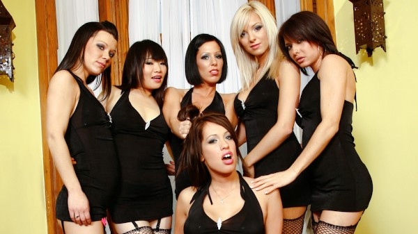 Girly Gang Bang #10 Scene 2 Porn DVD on Mile High Media with Erika Heaven, Jenny G, Kelly Summer, Kream, Yumi Yu, Juicy Pearl