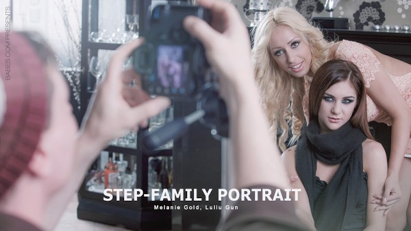 Step-Family Portrait Hardcore Kings Porn 100% XXX on hardcorekings.com starring Melanie Gold, Lullu Gun