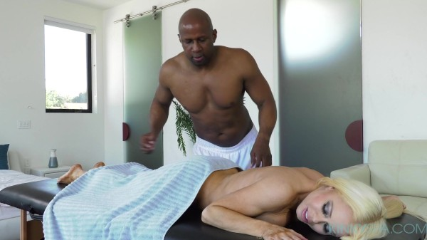 Busty Nikki Delano gets massaged and fucked deep by her new BBC employee