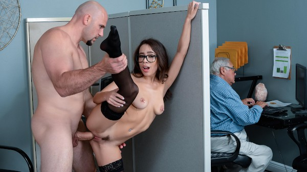 Office Princess with Jmac, Lana Mars at sneakysex.com