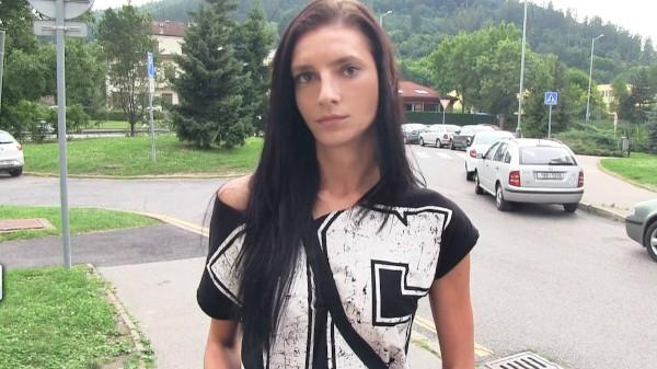 Watch Laura Obrien in Skinny Brunette is Not Shy