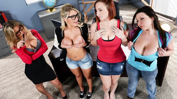 After School Tit Teasing Lessons - Brazzers Porn Scene
