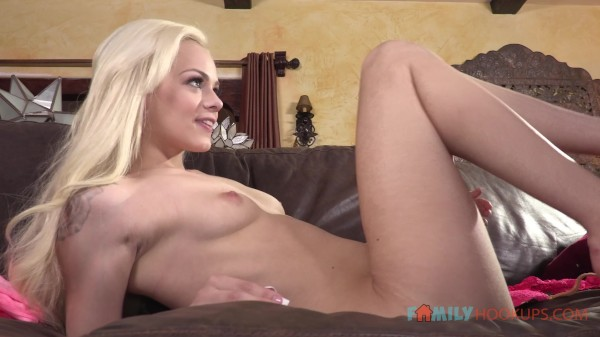 Cute little blonde Elsa Jean gets bored and fucks her stepbrother