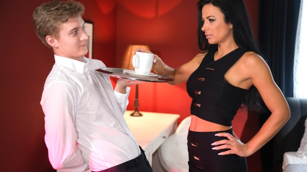 Lonely MILF room service special at SexyHub.com
