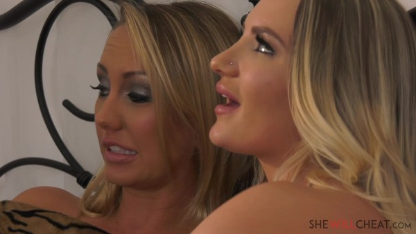 Cali Carter cheats on her cuck husband with Brett Rossi right in front of him!
