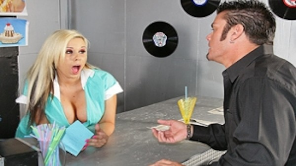 Big Tits on the Menu - Brazzers Porn Scene