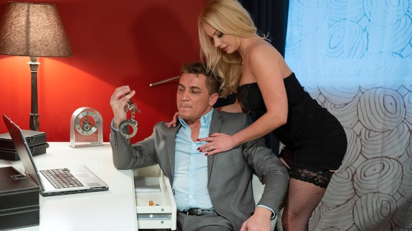 Blonde wife handcuffed and fucked at SexyHub.com