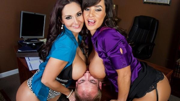 Ogling in the Office - Brazzers Porn Scene