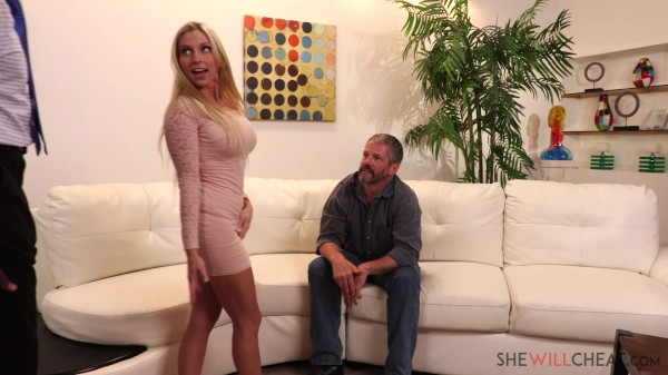 Hot blonde milf Christie Stevens gets fucked by her hot black marriage counselor in front of her cuckold husband