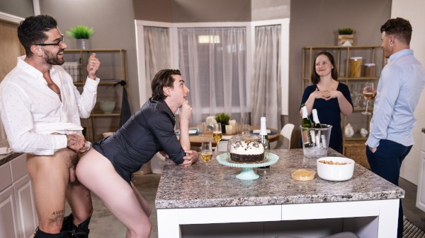 Enjoy Big Fuck-Up in the Kitchen on Twinkpop.com Featuring JJ Knight, Jack Hunter, Chris Damned