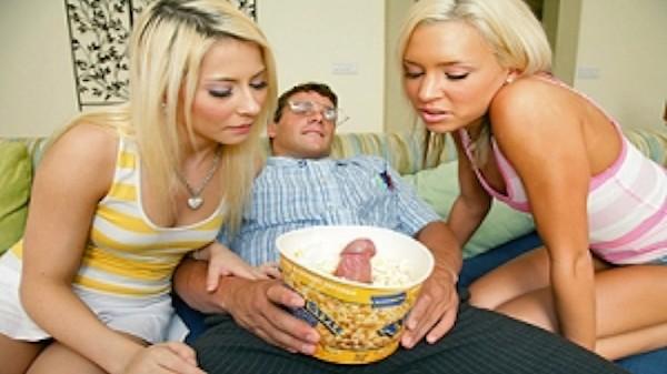 Great Moments in Threesome History pt.1 - Brazzers Porn Scene