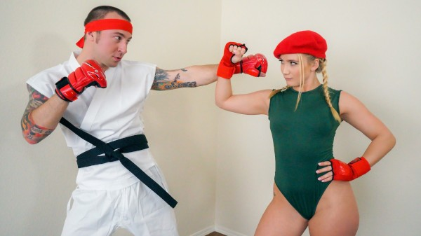 Watch AJ Applegate, Chad Alva in Video Game Cosplay Fuck
