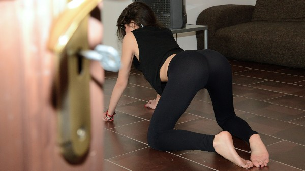 Watch Carolina Abril in Yoga Babe Fucks the Voyeur