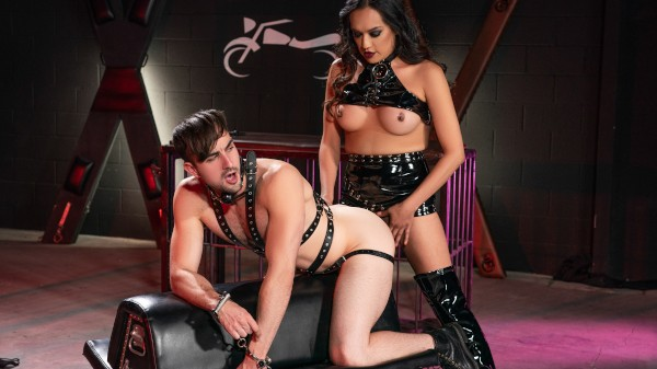 The TransAngels Motorcycle Club Part 2 Trans Fetish 100% real on TransHarder.com starring Jessica Foxx, Mason Lear