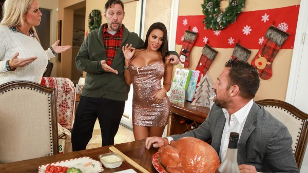Horny For The Holidays: Part 3 - Brazzers Porn Scene