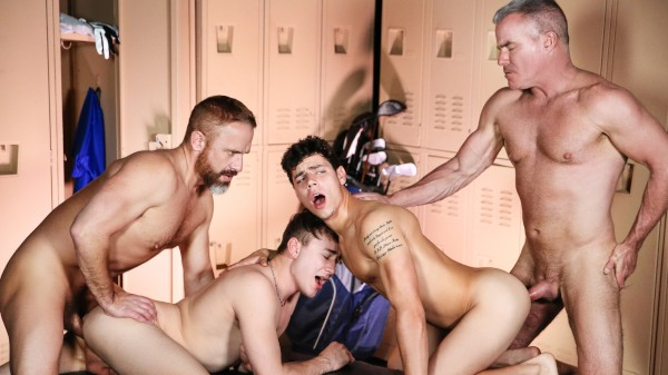 The Caddy And The Daddy Part 3: Bareback - feat Kaleb Stryker, Dirk Caber, Zander Lane, Dale Savage