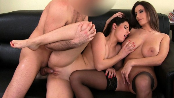 Brunette Rides A Hard Dick And Gets A Mouthful of Pussy ft Mona Lizz - FakeHub.com
