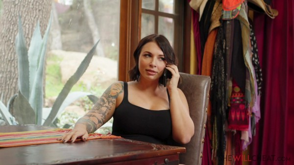 Curvy Ivy LeBelle cheats on her husband with an art appraiser