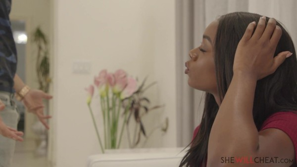 Gorgeous ebony babe Ana Foxxx cheats on her husband with his best friend