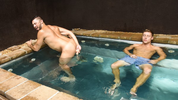 Enjoy What's in the Hot Tub? on Twinkpop.com Featuring Shane Jackson, Justin Matthews