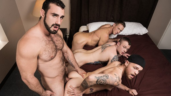 Watch Jaxton Wheeler, Pierce Paris, Cody Smith, Max Wilde in Abandoned Part #4, Scene 1