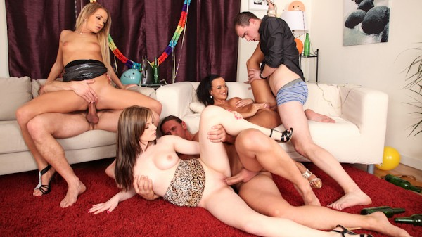 Bachelor Party Orgy #04 Scene 2 Porn DVD on Mile High Media with Charlotte, Linet Slag, Sunshine
