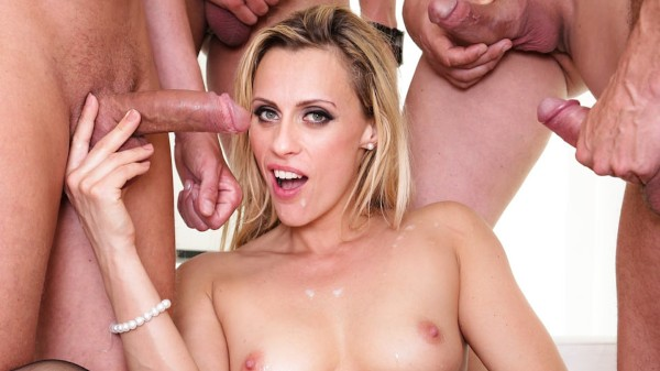 CUMSHOTS 4 On 1 Gang Bangs #08 Scene 4 Porn DVD on Mile High Media with Billie Star, Stacy Snake, Brittany Bardot