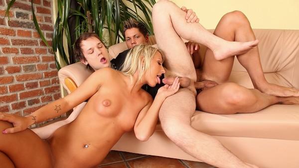 Bi Curious Couples Scene 4 Porn DVD on Mile High Media with Alan Capier, Angelo Godshack, Lexxis Brown